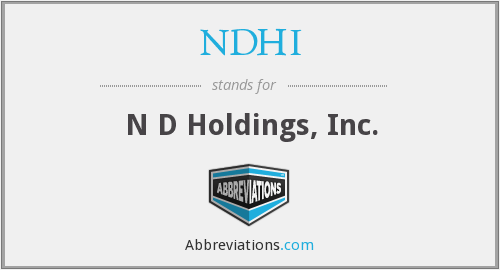 What does NDHI stand for?