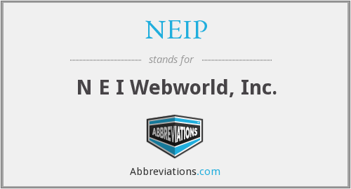 What does NEIP stand for?