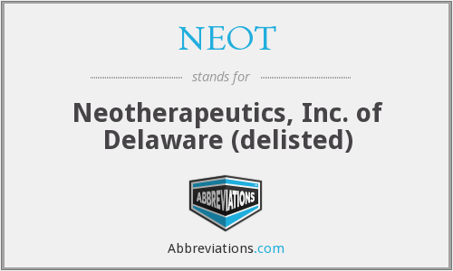 What does NEOT stand for?