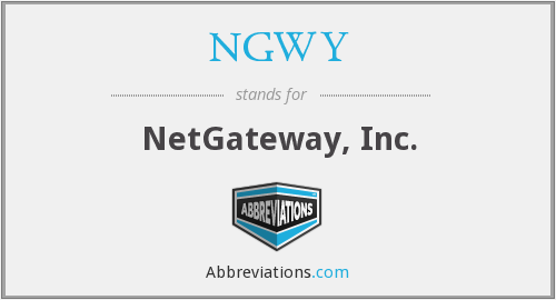 What does NGWY stand for?