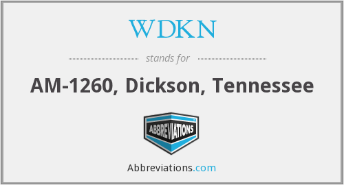 What does WDKN stand for?