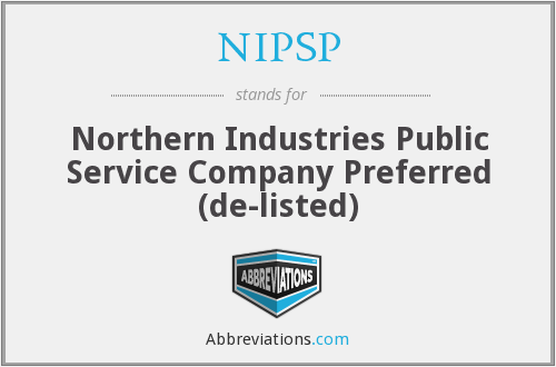 What does NIPSP stand for?