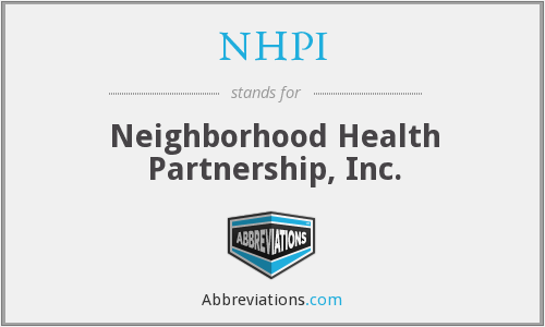 What does NHPI stand for?
