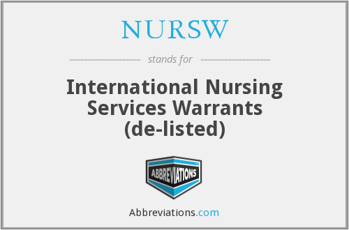 What does NURSW stand for?