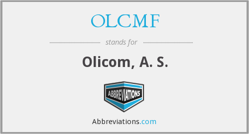 What does OLCMF stand for?