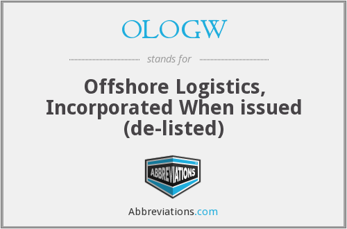 What does OLOGW stand for?
