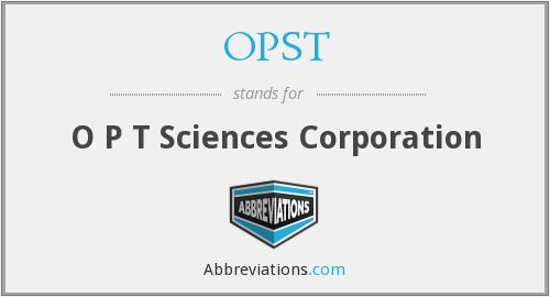 What does OPST stand for?