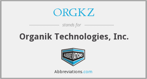 What does ORGKZ stand for?