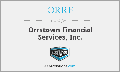 What does ORRF stand for?