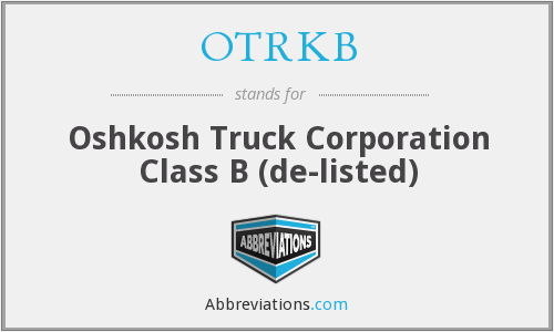 What does OTRKB stand for?