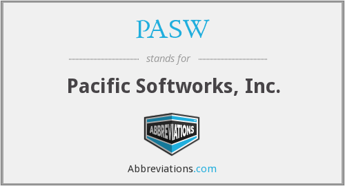 What does PASW stand for?