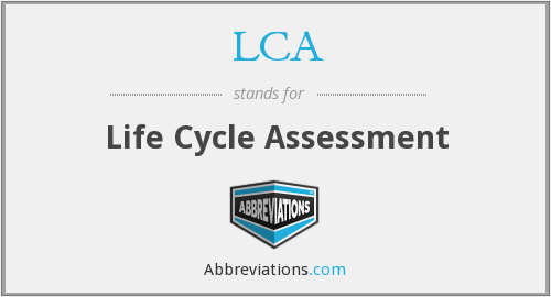 What does LCA stand for?