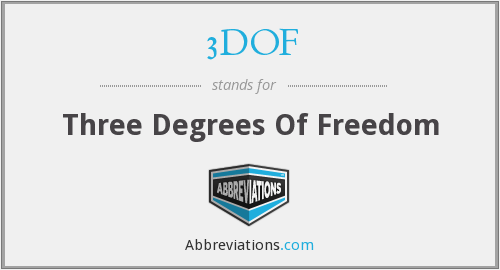 What does 3DOF stand for?