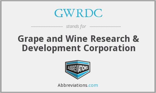 What does GWRDC stand for?