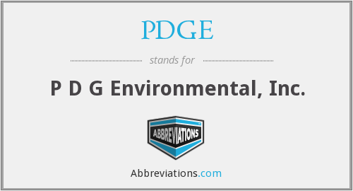 What does PDGE stand for?