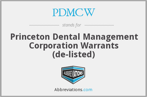 What does PDMCW stand for?