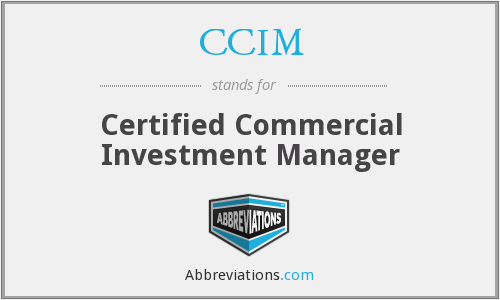What does CCIM stand for?