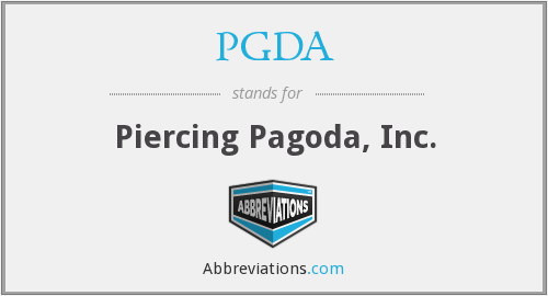 What does PGDA stand for?