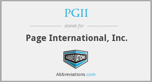 What does PGII stand for?