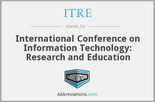 What does ITRE stand for?