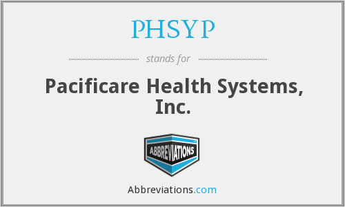 What does PHSYP stand for?