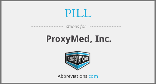 What does PILL stand for?