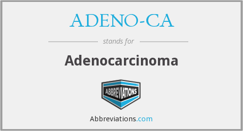 What does ADENO-CA stand for?