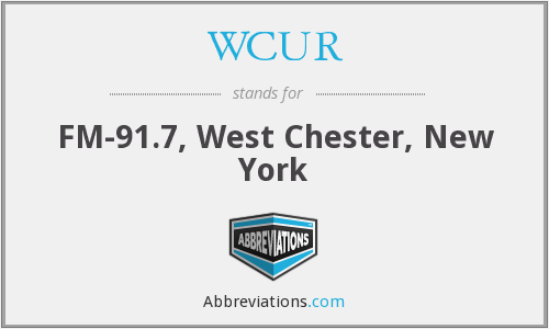 What does WCUR stand for?