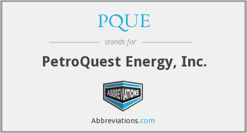 What does PQUE stand for?