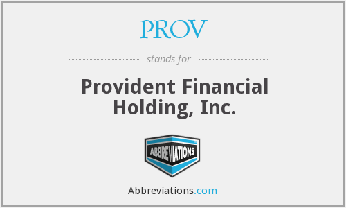 What does PROV stand for?