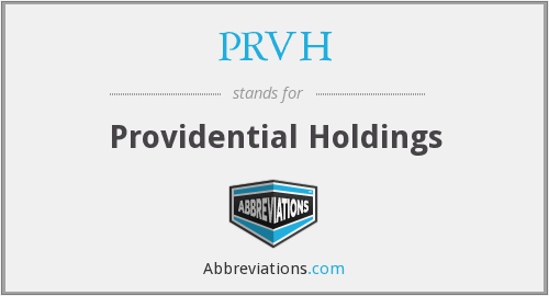 What does PRVH stand for?