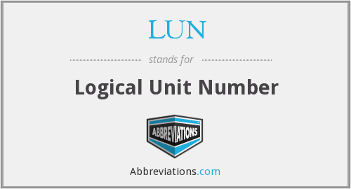 What does LUN stand for?