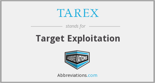 What does TAREX stand for?