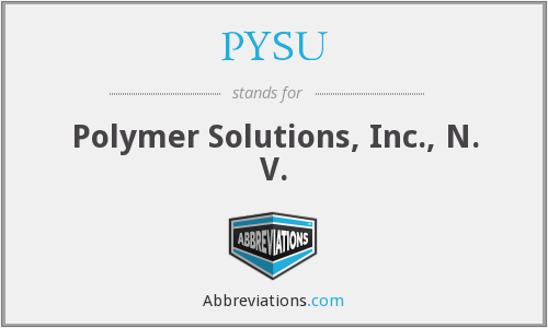 What does PYSU stand for?