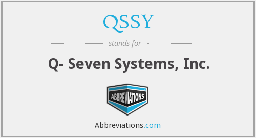 What does QSSY stand for?