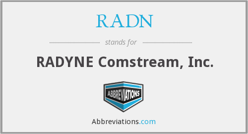 What does RADN stand for?