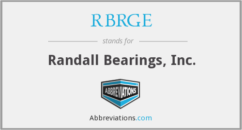 What does RBRGE stand for?