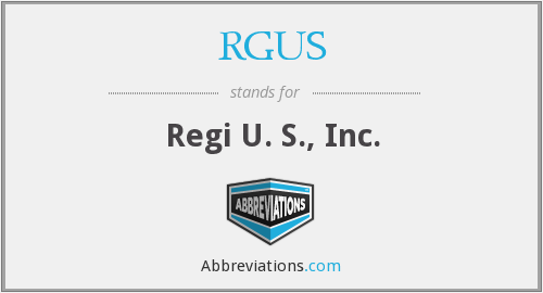 What does RGUS stand for?