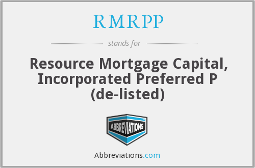 What does RMRPP stand for?