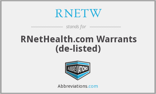 What does RNETW stand for?
