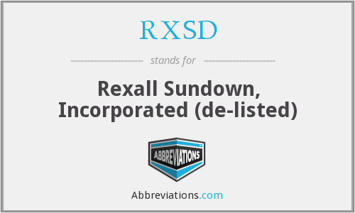 What does RXSD stand for?