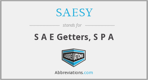 What does SAESY stand for?