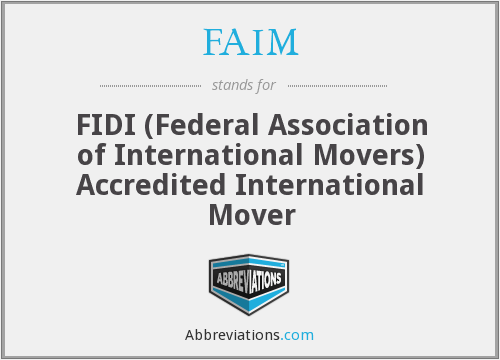 What does FAIM stand for?