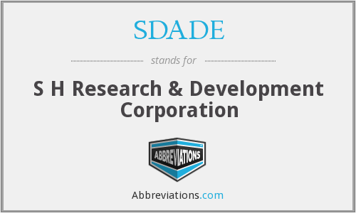 What does SDADE stand for?