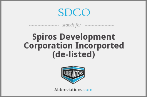 What does SDCO stand for?