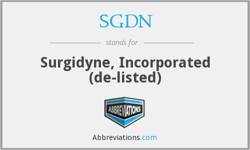 What does SGDN stand for?