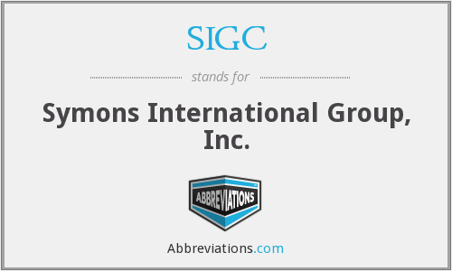 What does SIGC stand for?