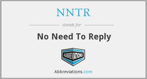 What does NNTR stand for?