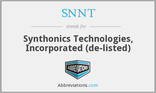 What does SNNT stand for?
