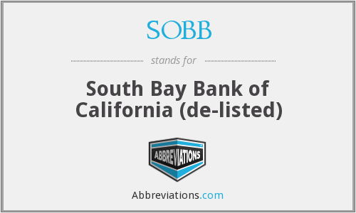 What does SOBB stand for?
